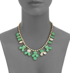 Kate Spade Secret Garden Gem Necklace And Earrings Set Lot Holiday Green Pave