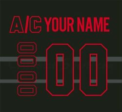 Montreal Canadiens Black Ice Jersey Customized Number Kit Un-stitched