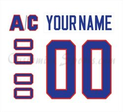 Montreal Canadiens Customized Number Kit For 1984-97 White Jersey