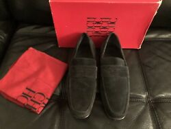 Ch By Carolina Herrera Olive Green Men's Suede Loafers Shies Size 7.5 Drom Spain