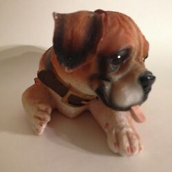 "Vintage Ceramic Bulldog Figurine Laying Down 6"" X 3"