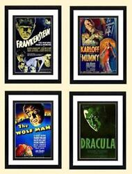 Classic Monsters Poster Set. Frankenstein The Mummy Wolfman And Dracula Highes