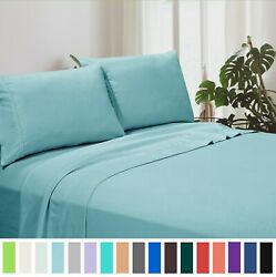 Deep Pocket Fitted Sheet 1800 Count 4 Piece Set American Home Collection Bedding