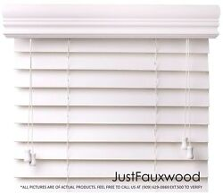 CBC 2quot; Faux Wood Blinds White Custom Width 10quot; 96quot; x Height 36quot; 96quot; FREE SHIP $61.65