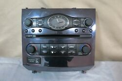 ✅ 10-13 Infiniti G37 11-12 G25 CD Radio Player Climate Control Panel Bezel OEM
