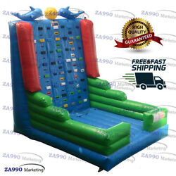 16x13ft Commercial Inflatable Climb Rock Climbing Bounce Wall With Air Blower