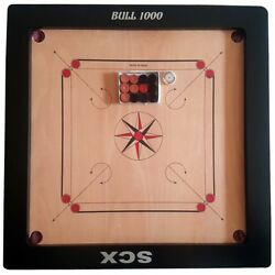 Bull 1000 12mm Carrom Board Game Super Sale Of Christmas Gift For Grand Father