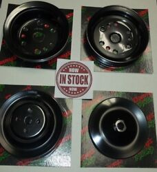Steel Black Sbc Short Water Pump Pulley Crank And Power Streeing Pulley Set