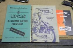 ORIGINAL TRIUMPH T15 TERRIER UNISSUED OWNER'S PACKET INCLUDING SERVICE MANUAL