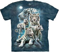 The Mountain Unisex Adult Night Tiger Collage Animal T Shirt