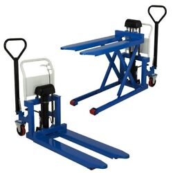 Pallet Jack And Lift - Foot Operated - 2200 Lbs Cap - 44 X 20 Fork - 33 Raised
