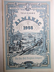 Vtg 1958 Telephone Almanac Bell System American Telephone And Telegraph Ships Free