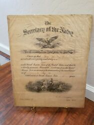 Post World War One Navy Honorable Discharge Paper