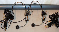 Vintage Lot 2 Bell Western Electric 52 Switchboard Operator Telephone Headset NR