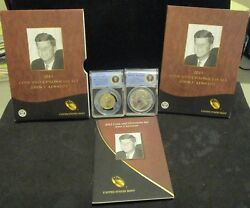 2015 John F. Kennedy Coin And Chronicles Set - Anacs Rp70 And Silver Medal