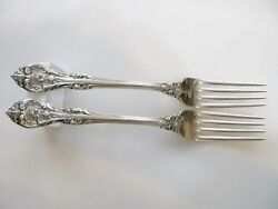 1 One Gorham King Edward Sterling Silver 7-3/4 Dinner Fork 2 Avail No Mono