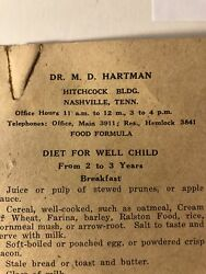 Rare Antique Advertisement For Diet For A Well Child