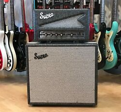 Supro 1605rh Reverb Special Head And 1790 Black Magick Extension Cabinet