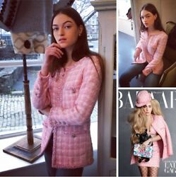 CHANEL Authentic Pink Fantasy Boucle Celebrity Jacket SOLD OUT SO RARE!! $12.6K
