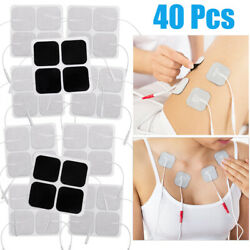 40pcs Replacement Patches For Tens Unit Electrode Electrodes Pads Electrotherapy
