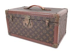 Auth Vintage LOUIS VUITTON Monogram Vanity Trunk Cosmetic Travel Box Bag #29154