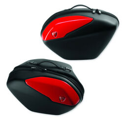 NEW Motorcycle Ducati Genuine Red Side Panniers - D96781131A