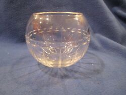 Vera Wang Wedgwood Crystal With Love Rose Bowl Vase Signed Etched Name On Base