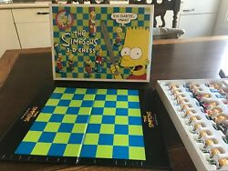 The Simpsons 3d Chess Game, Rare, All Pieces 1991 Complete Chess Set-never Used