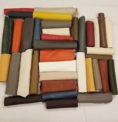 Premium Italian Cowhide Leather Scrap Upholstery 2 lbs LargeSize Flawless Pieces $28.99
