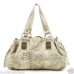 $2895 MICHEL KORS COLLECTION MADE IN ITALY PYTHON 'REHEARSAL' WOMEN HAND BAG