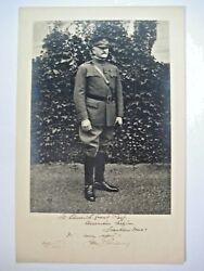 Excellent, General John J. Pershing Inscribed And Signed Black And White Photograph