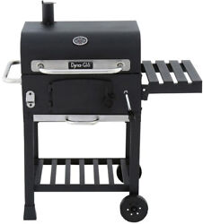 Dyna-Glo Charcoal Wood BBQ Grill Compact Black Adjustable Crank DGD381BNC-D