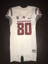 Washington State Cougars Football Jersey Game Used Dom Williams White