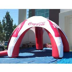 12 Ft Inflatable Spider Tent Red-white