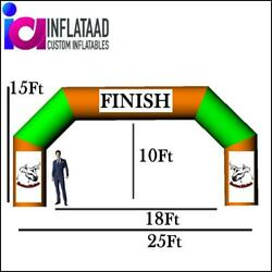 25ft Inflatable Arch Triangle