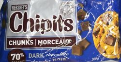 Hershey's Chipits Dark Chocolate Chunks 70% cocoa 8 Bags 200g each Canadian