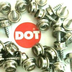 25 Dot 8 3/8 Stainless Steel Screw Snap Studs Auto Marine Boat Cover Canvas