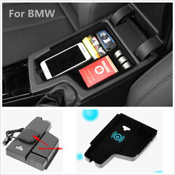 Cell Phone Wireless Car Charger Storage Holder For Bmw 3 F30 F31 F32 2012-2017