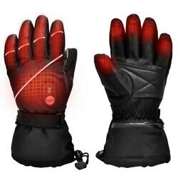 Upgraded Heated Gloves for Men WomenElectric Ski Motorcycle Snow Mitten Glove