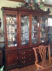American Drew China Cabinet In Antique Cherry