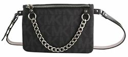Michael Kors MK Fanny Pack Belt with Pull Chain BlackGrey Large