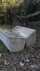 (2) livestock water trough used cast concrete in great shape