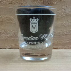 Canadian Club Imported Whisky Shot Glass Orig.