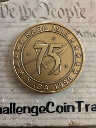 Naca Nasa 75 Years Of Excellence In Aeronautics And Space Challenge Coin