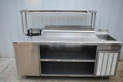 Delfield Custom 82 Prep Table W/ Refrigerated Condiment Rail And Hot Well