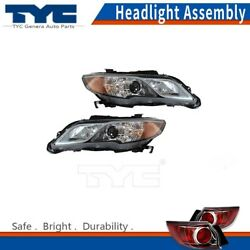 TYC Headlight Lamps Assembly Left & Right 2PCS For Acura RDX 13-15 Nsf Certified
