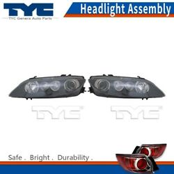 TYC Headlight Lamps Assembly Left & Right 2PCS For Mazda 6 06-08 Capa Certified