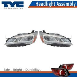 TYC Headlight Headlamps Assembly Left &Right 2PCS For Toyota Camry(XLE)2015-2017