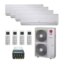 Lg Wall Mounted 4-zone System - 48000 Btu Outdoor - 7k + 7k + 9k + 24k Indoo...