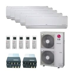 LG Wall Mounted 5-Zone System - 60000 BTU Outdoor - 7k + 7k + 12k + 15k + 15...